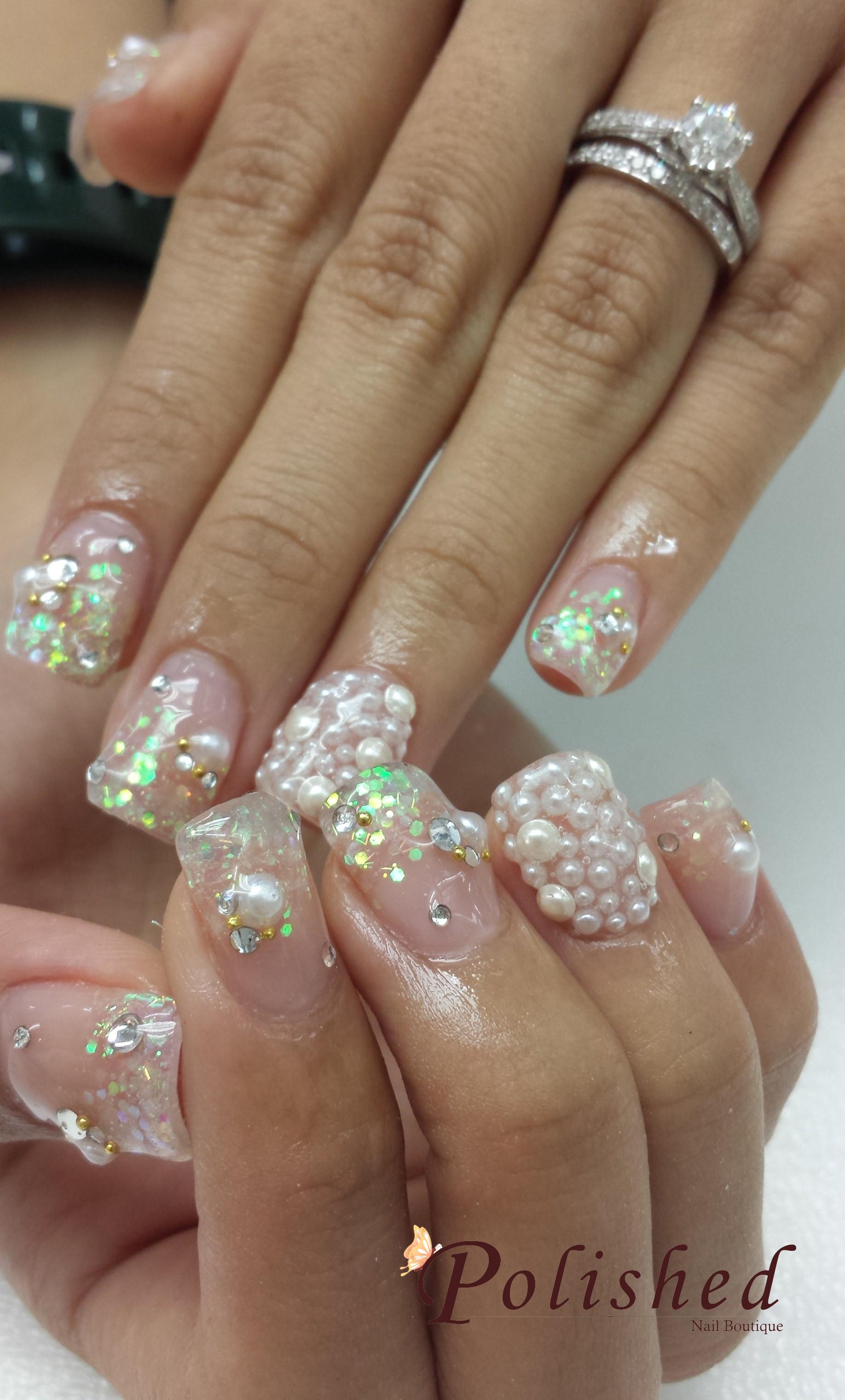 Wedding Nails using OPI Gel Polish - Nail Art Design Ideas Collection