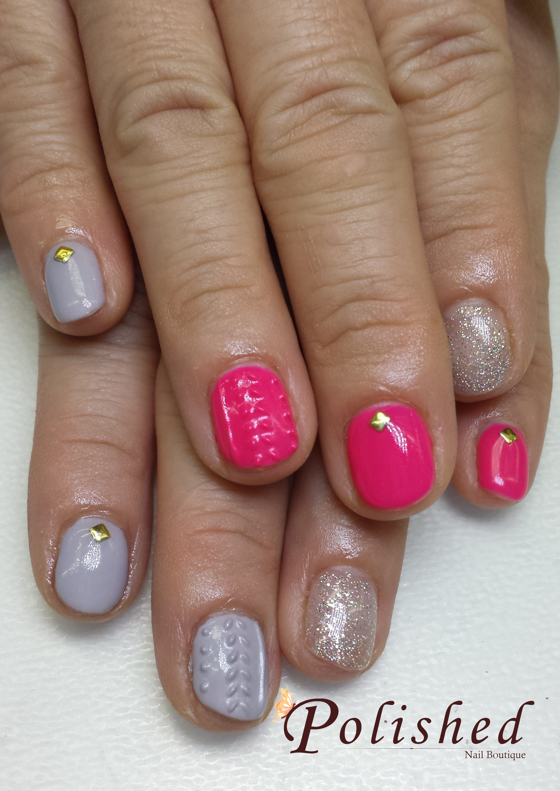 Gel Manicure: Knitted Nails | Polished Nail Boutique